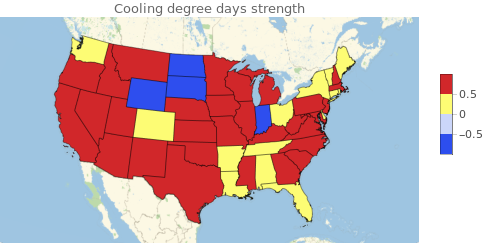 cooling degree map
