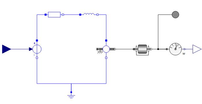DC motor model