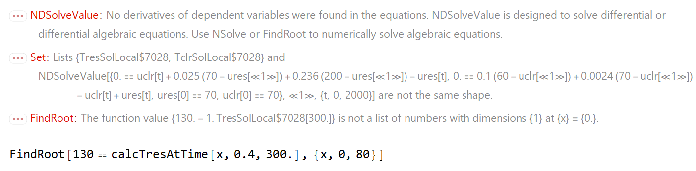 FindRoot output