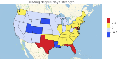 heating degree map