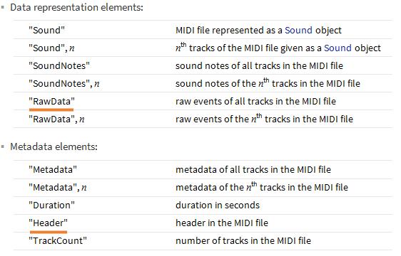 WL MIDI Import Elements