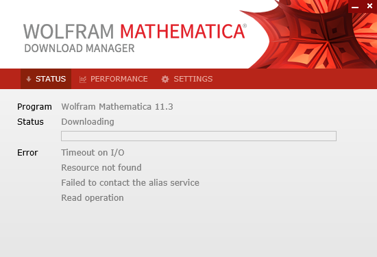 Mathematica Download Manager Failed to contact the alias service