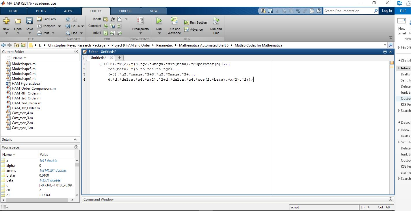 Correct MAtlab Syntax (this is what i need it to do)