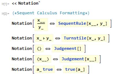 Declaring various notations