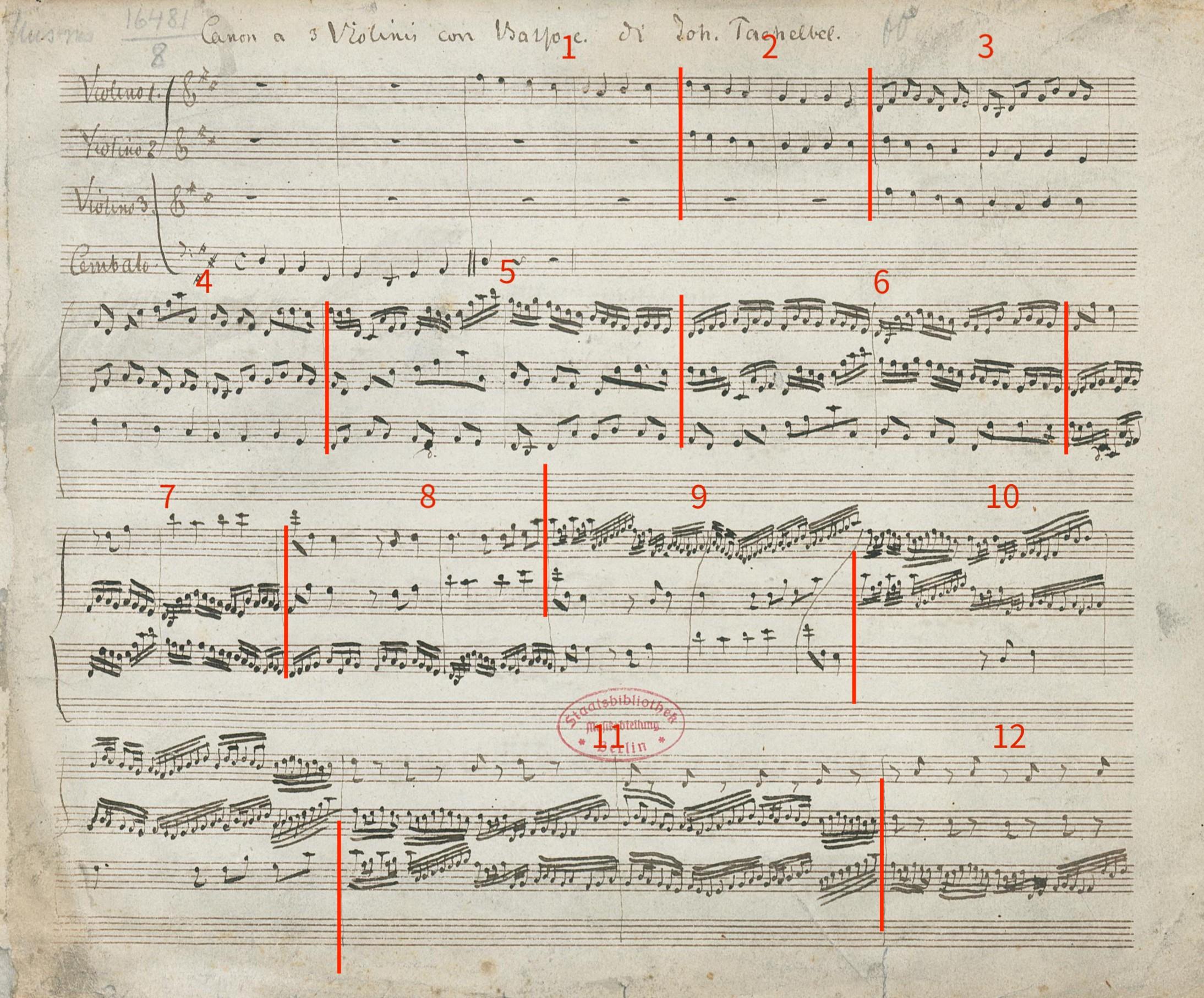 Bach's manuscript