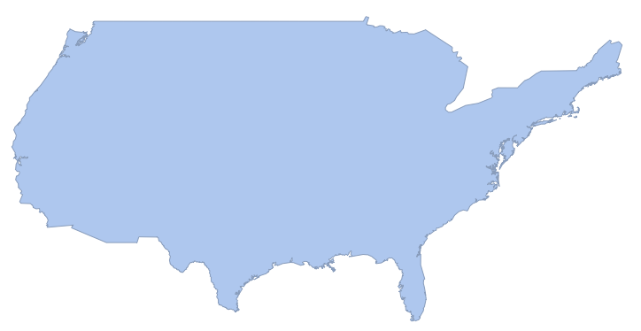 projected conterminous US region
