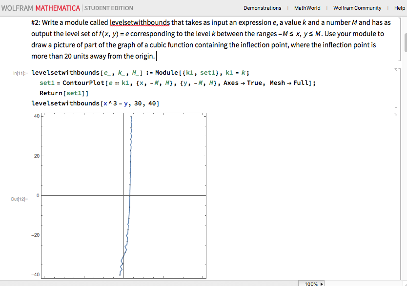 This is the altered code and the poorly depicted graph.
