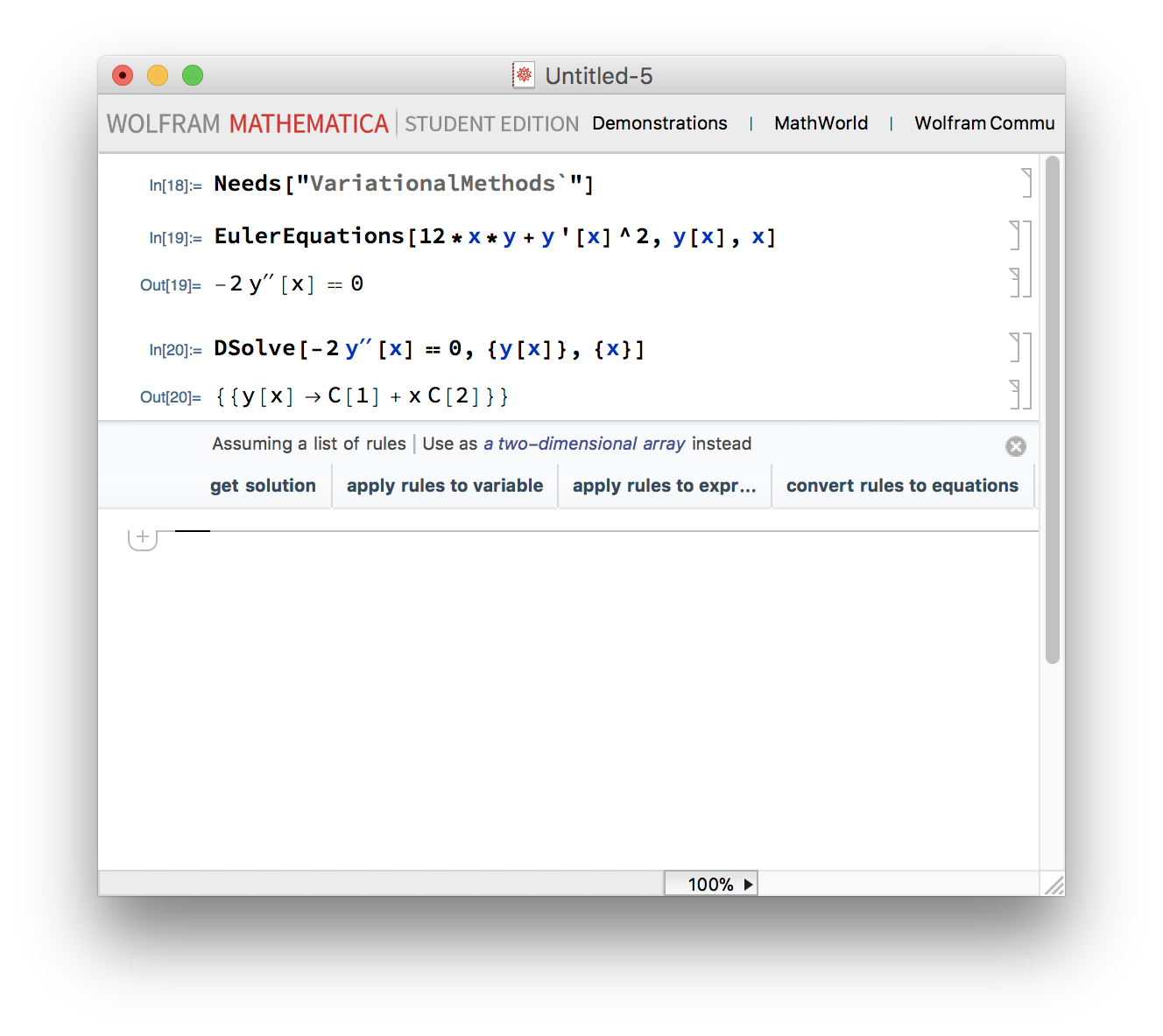 Mathematica's calculations