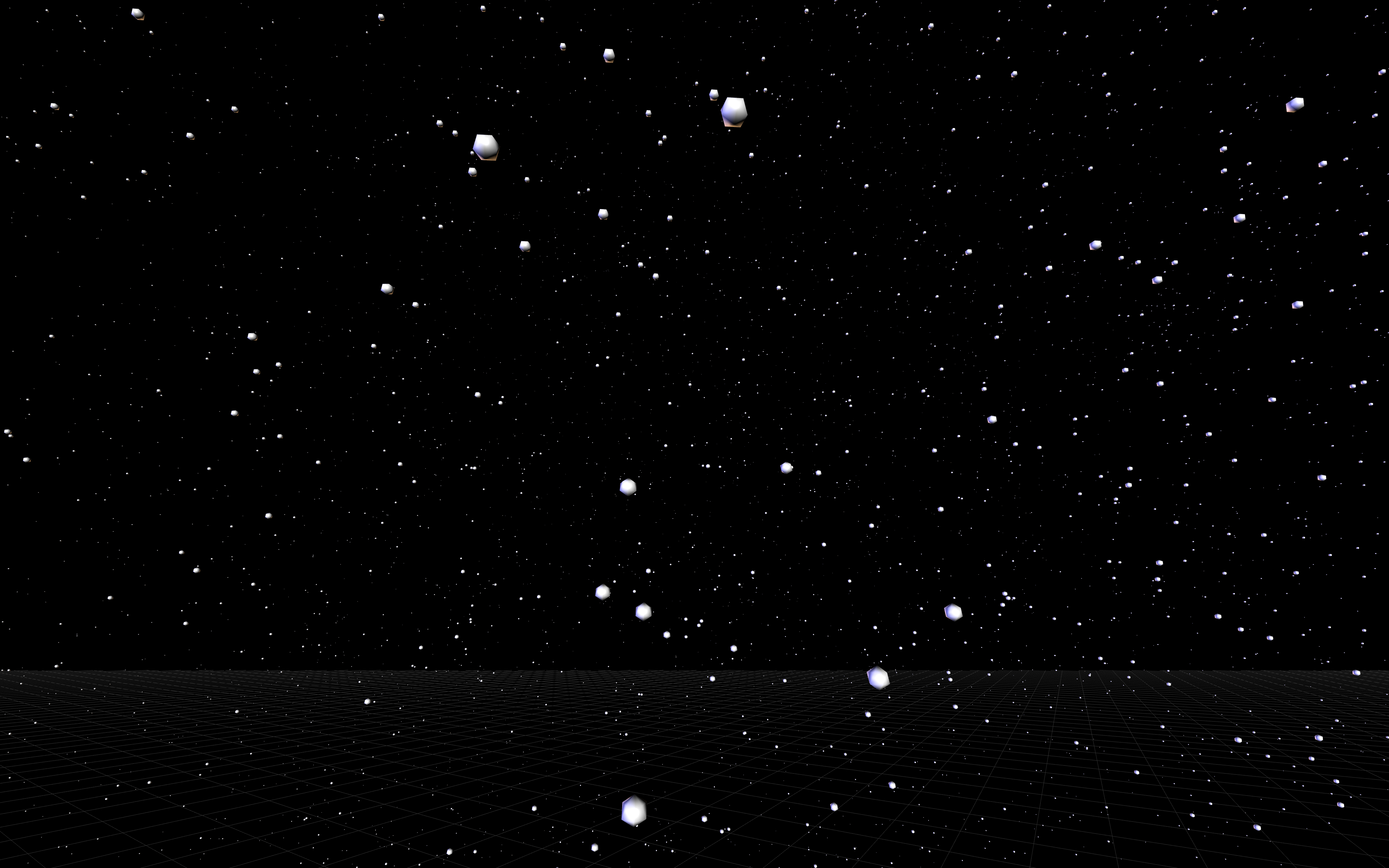 A full immersive view of the closest 35000 stars as seen from Earth, created with VRDeploy and the StarData function.