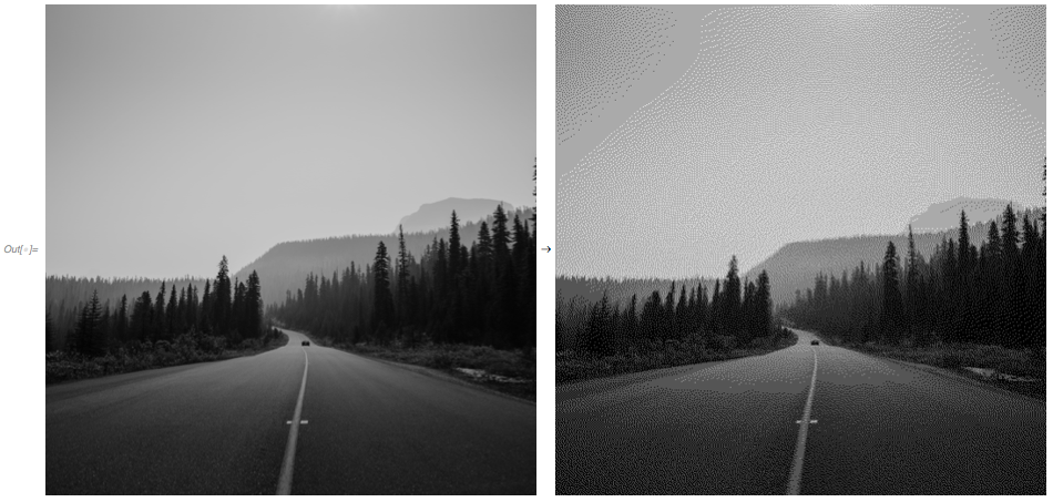 grayscale floyd steinberg dithering example