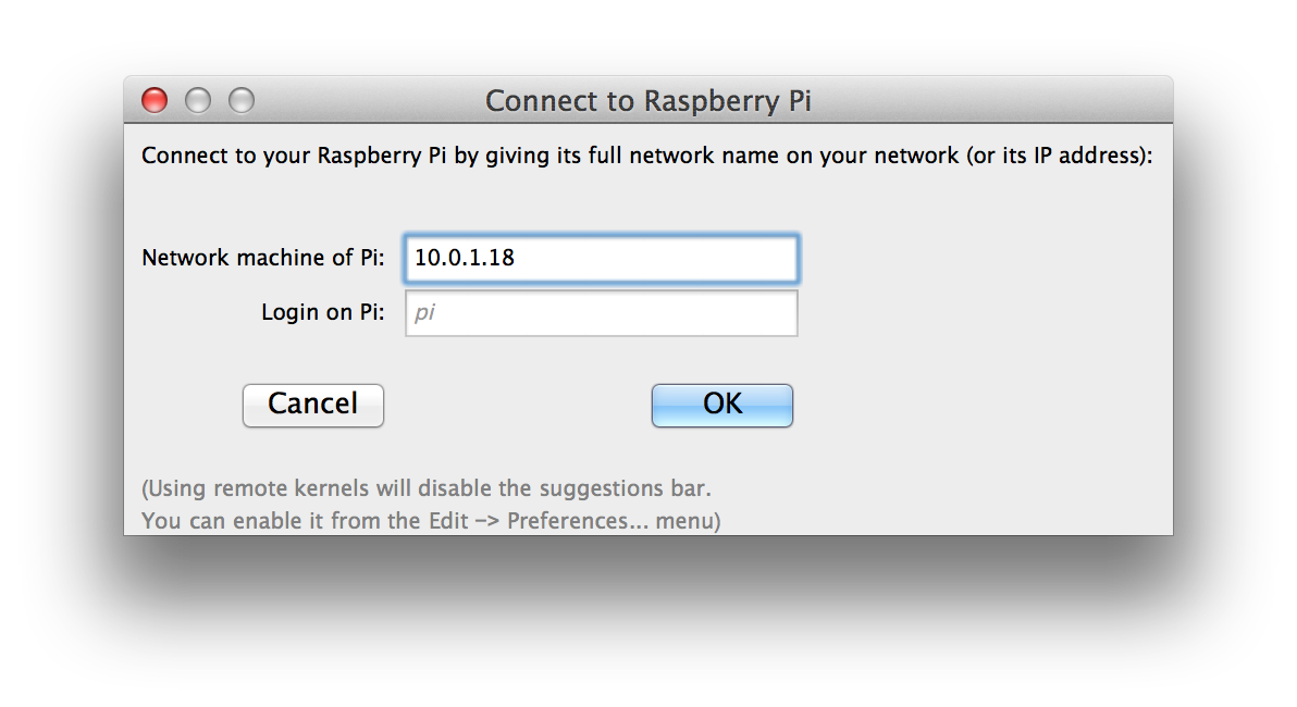 Remote Kernel on Raspberry Pi - Online Technical Discussion
