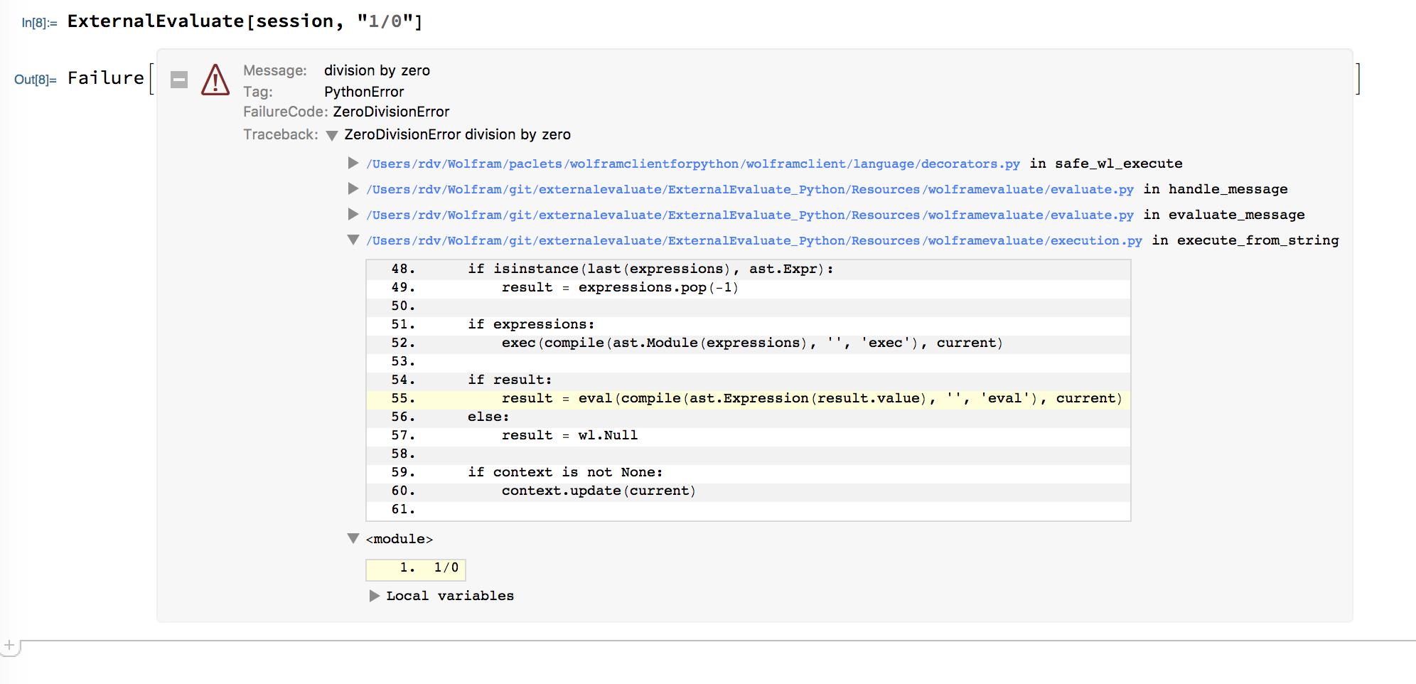 Python traceback