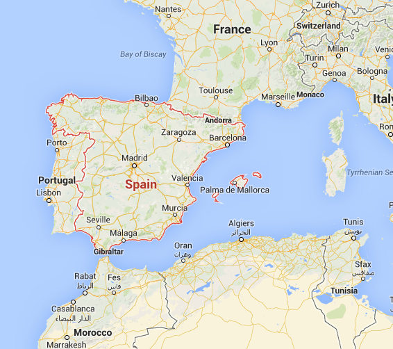 Detailed Map Of Spain Portugal And Morocco.Driving From Spain To Morocco Online Technical Discussion Groups