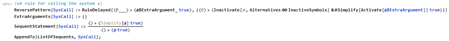 A rule for calling the simplifier