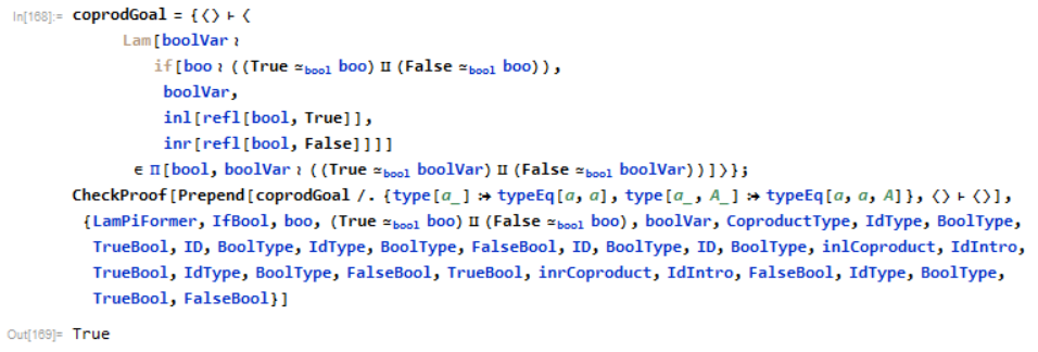 A proof that all booleans are either True or False