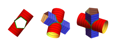 3 views of cylinders