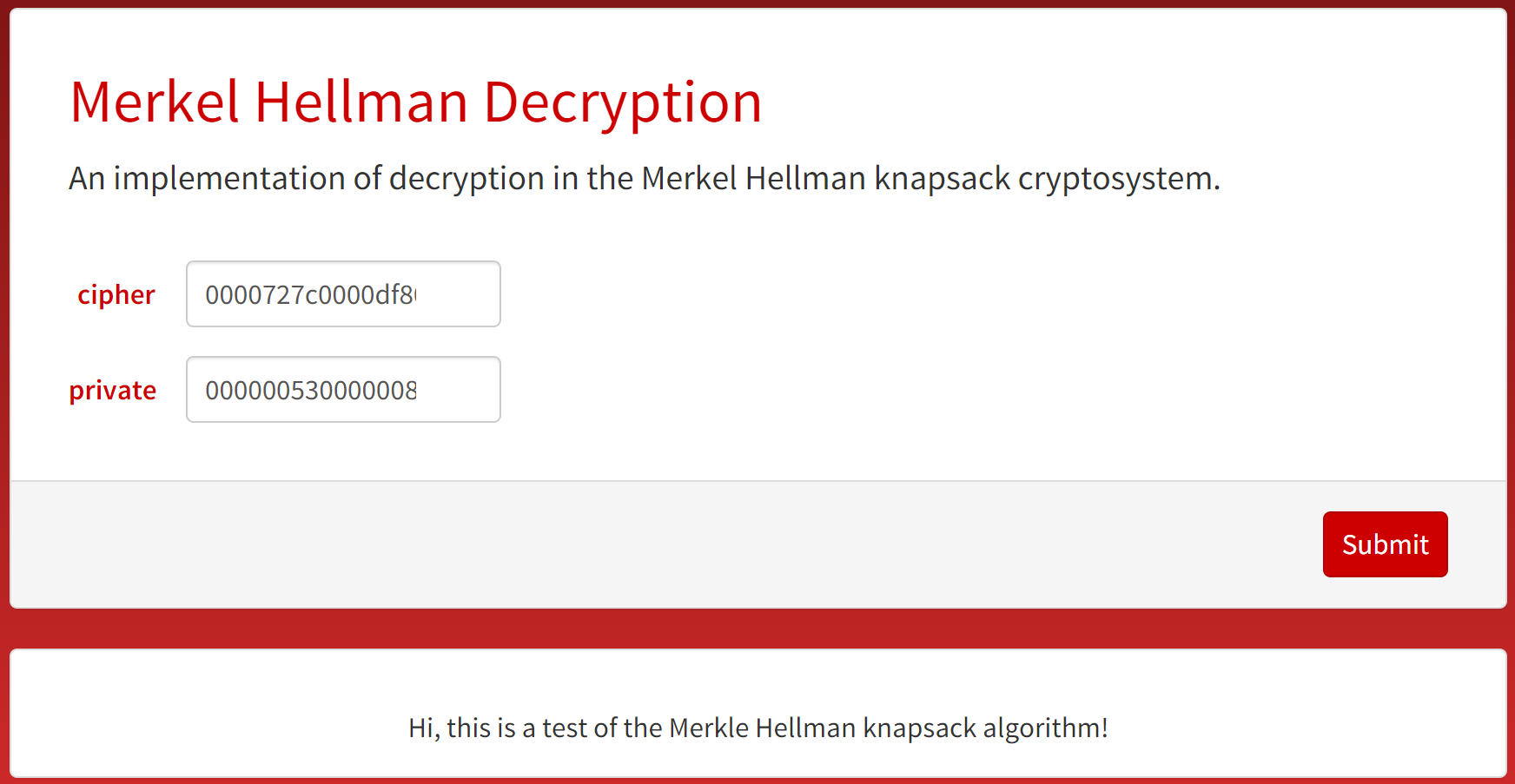 Decryption Microsite