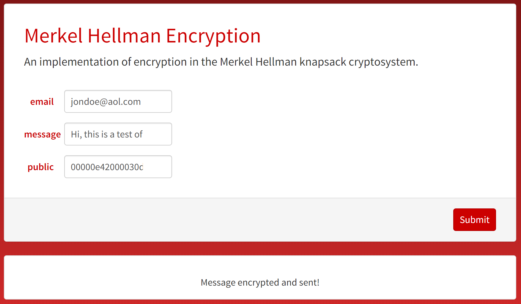 Encryption Microsite