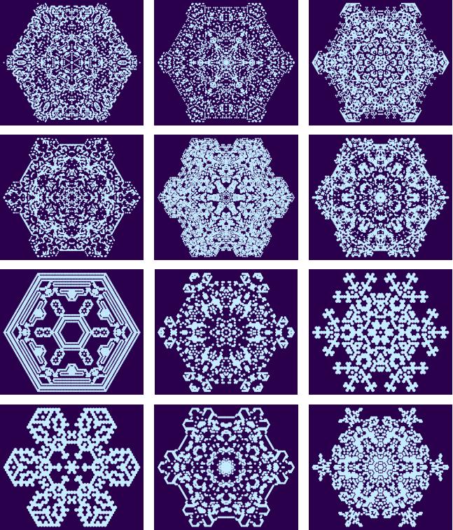 Random Snowflake Generator Based on Cellular Automaton