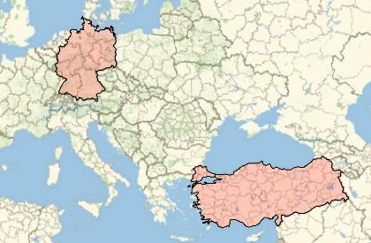 How do i create a map with germany and turkey highlighted online enter image description here gumiabroncs Image collections