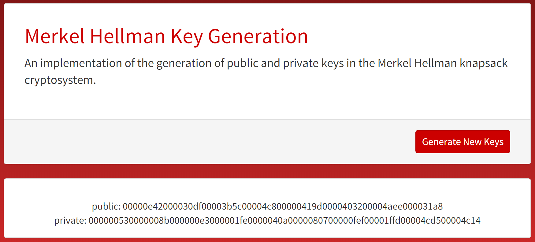 Key Generation Microsite