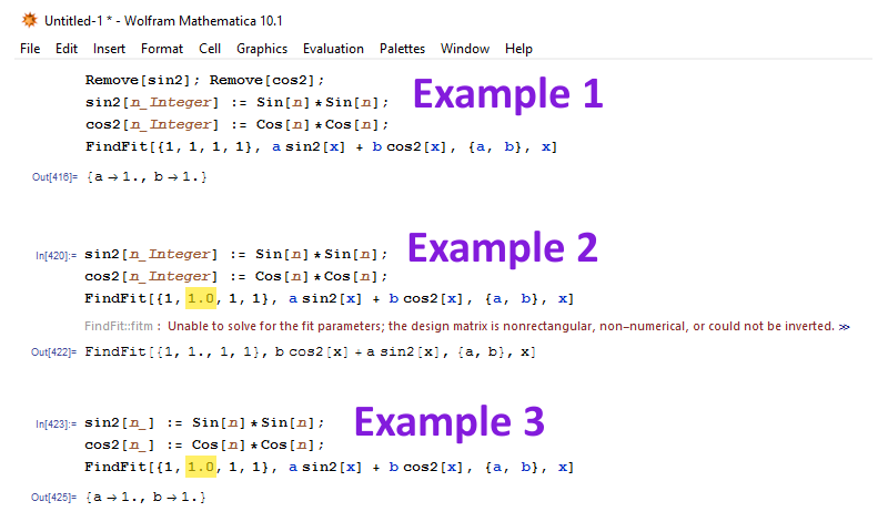 Use Findfit With Functions With Integer Input Only Online