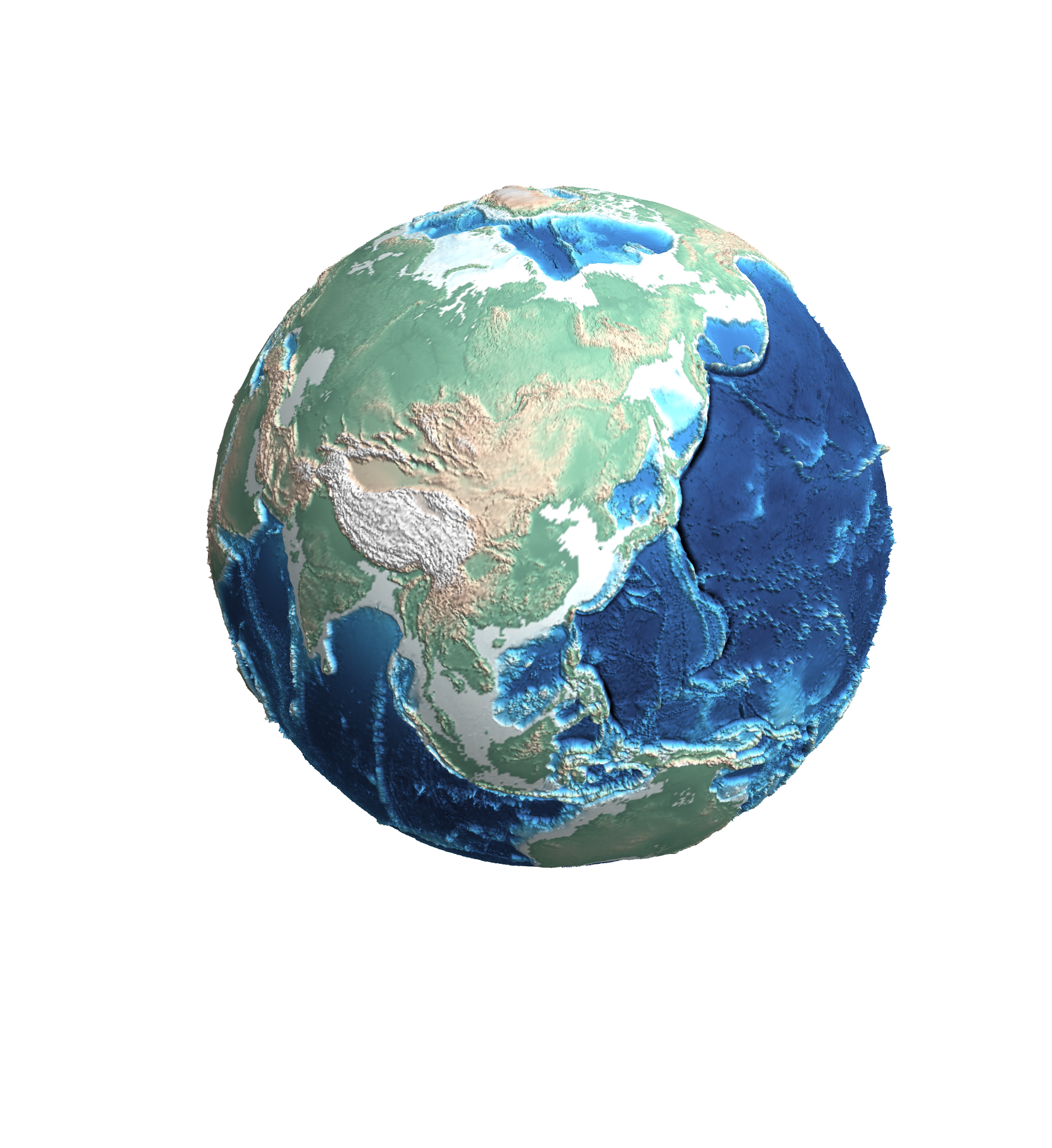 A 3D globe