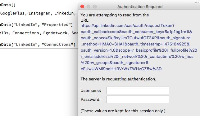 authorization URL
