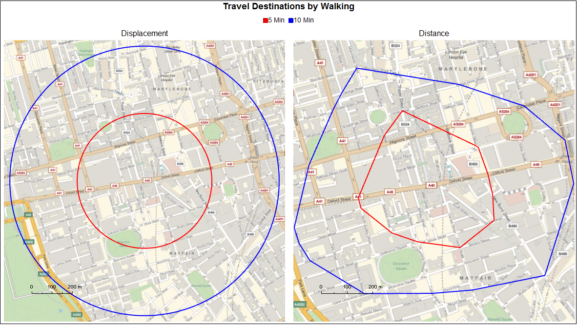 Routing OSM Data How Far Can I Walk In Minutes Online - Map out walking distance