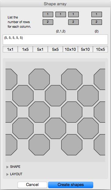 shape array