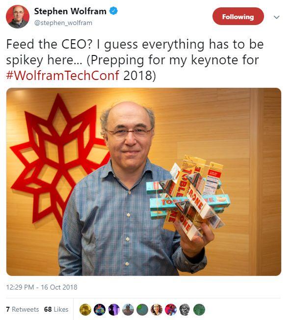 Stephen Wolfram twitter