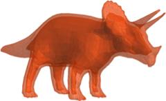 3D-Printed Triceratops